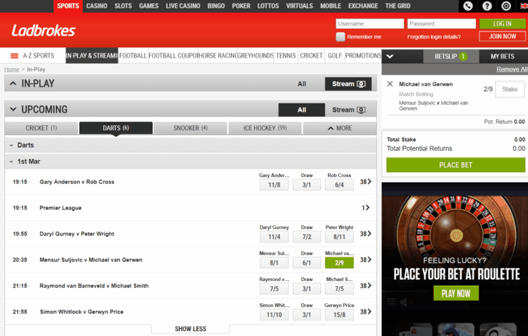 Ladbrokes Features Screenshot