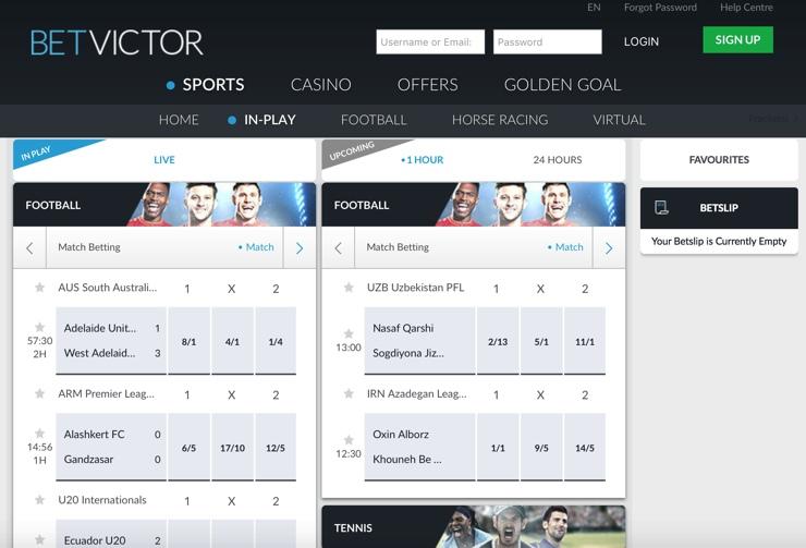 BetVictor Features Screenshot