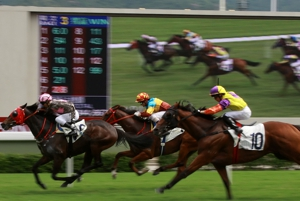 Horse Racing Blurred Odds