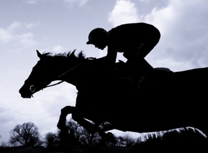 Horse Racing Sillouette