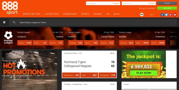 888Sport Screenshot