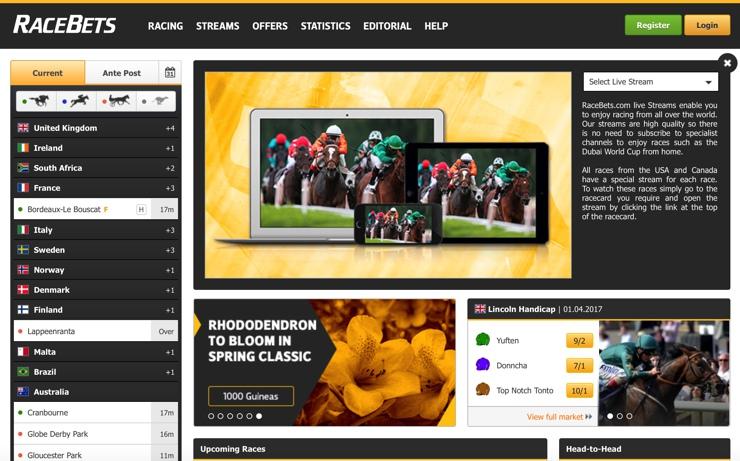 Racebets Features Screenshot