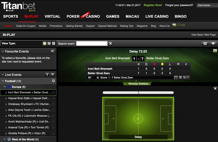 Titan Bet Features Screenshot