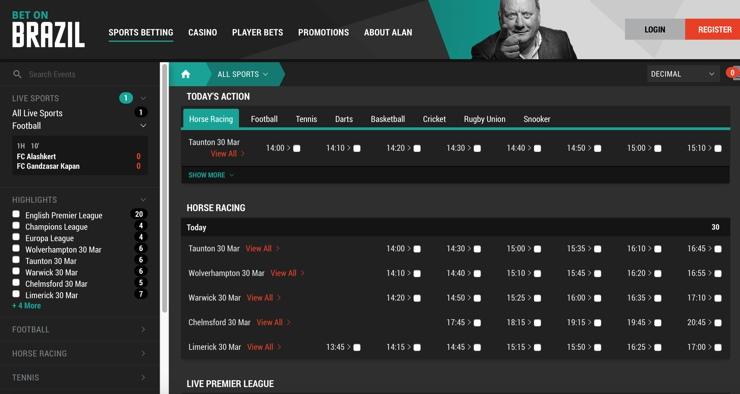 Bet on Brazil Screenshot