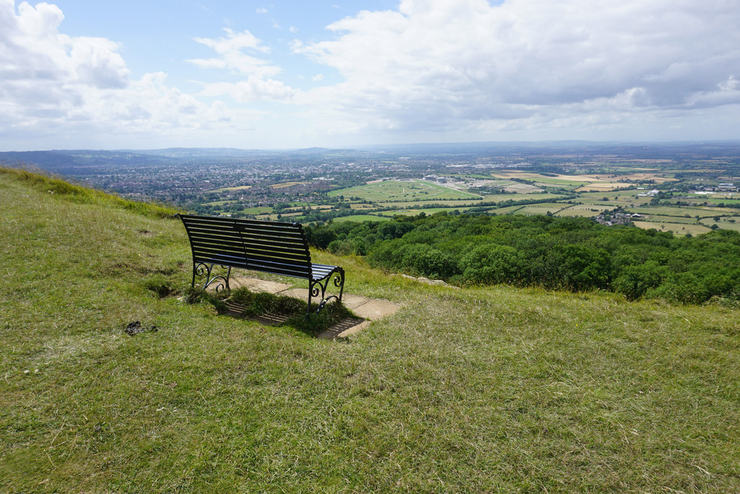 Bench Overlooking Cheltenham Racecourse