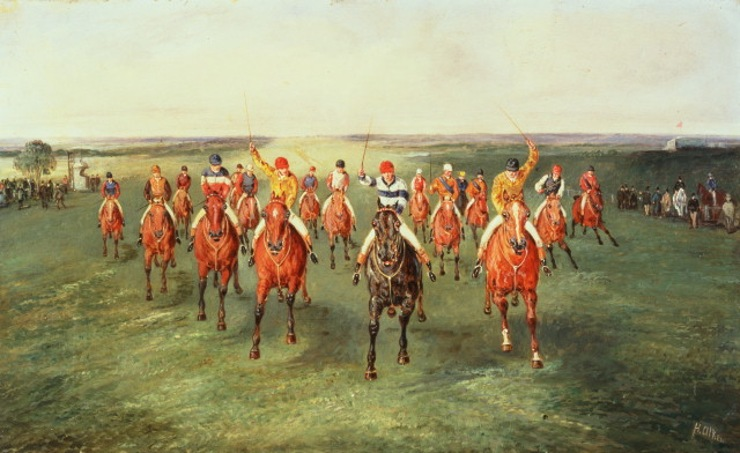 Painting of the Finish to the 2000 Guineas