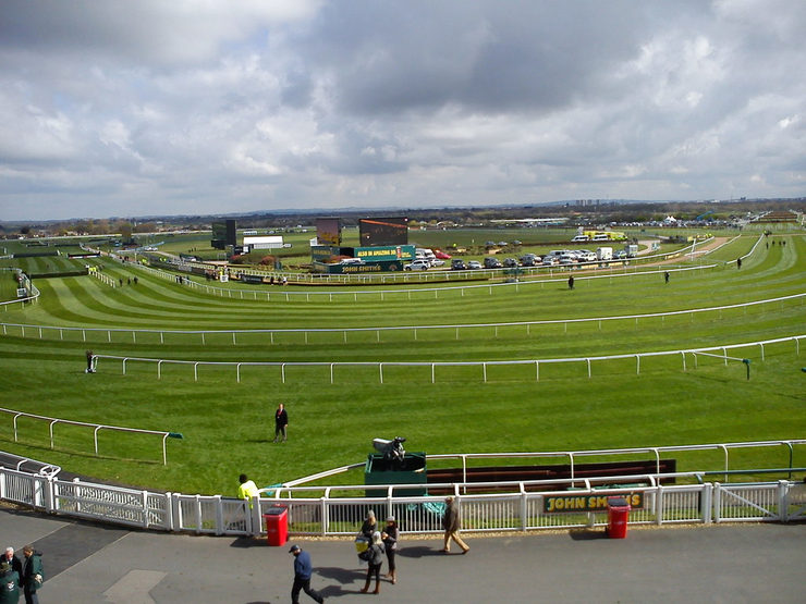 View of Aintree Racecourse