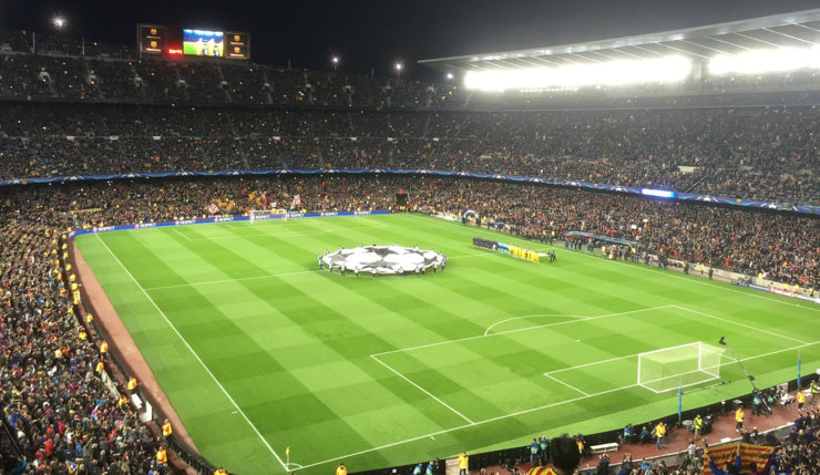 Barcelona Champions League Game at the Camp Nou
