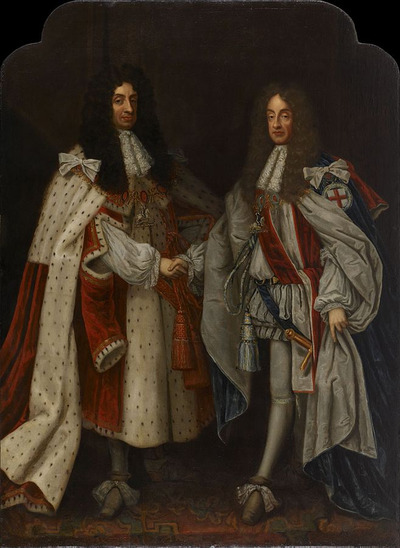 Portrait of Charles II and James II