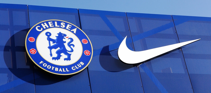 Chelsea FC and Nike Logos