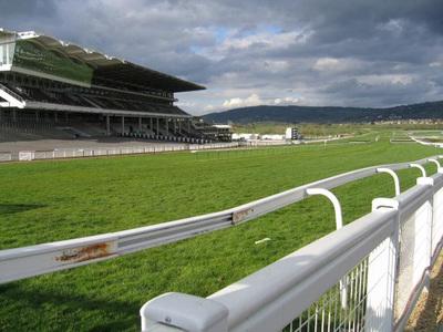 Cheltenham Racecourse Grandstand from Inner Rails