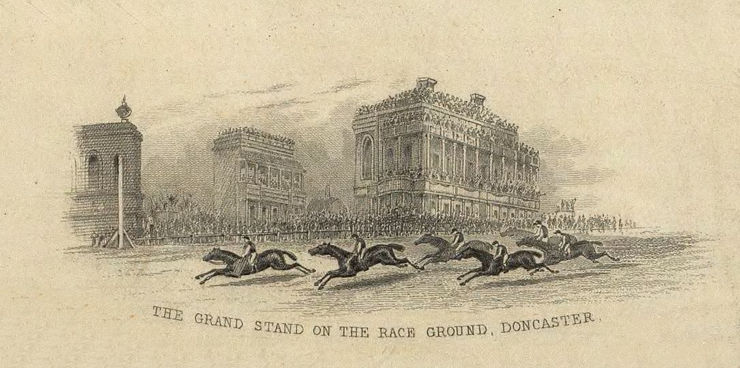 Illustration of Doncaster Horse Race and Grandstands