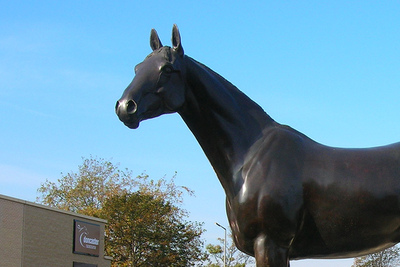 Statue of Double Trigger Racehorse at Doncaster Racecourse