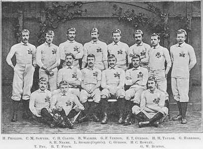 England Rugby Team in 1880