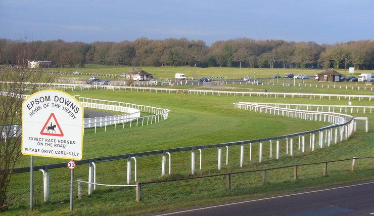Tattenham Corner of Epsom Racecourse