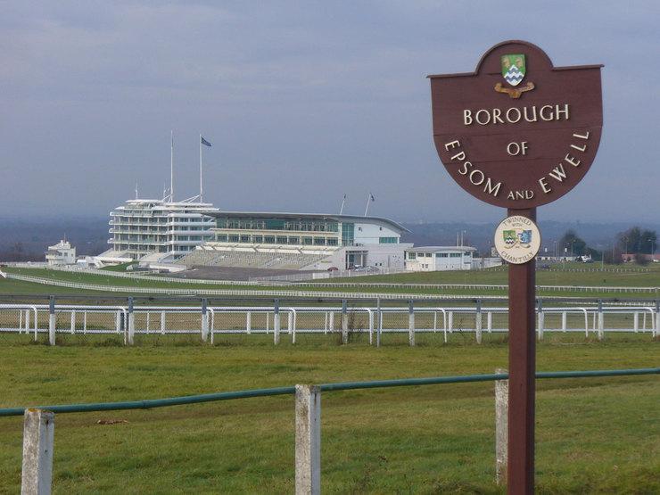 View Towards Epsom Racecourse Grandstands