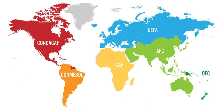 World Map of Football Confederations