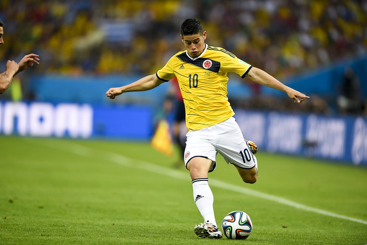 Golden Boot Winner James Rodriguez, Colombia