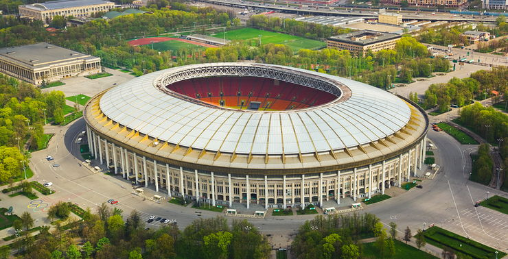 Luzhniki Stadium in Moscow, Russia