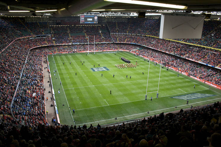 Principality Stadium in Cardiff Prior to Six Nations Match