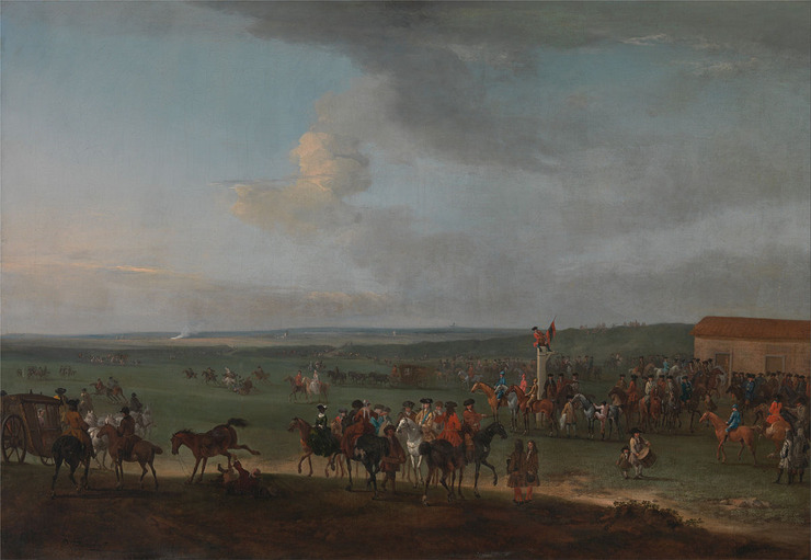 Painting of the Newmarket King's Plate Race
