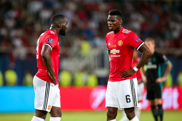 Manchester United Footballers Romelu Lukaku and Paul Pogba
