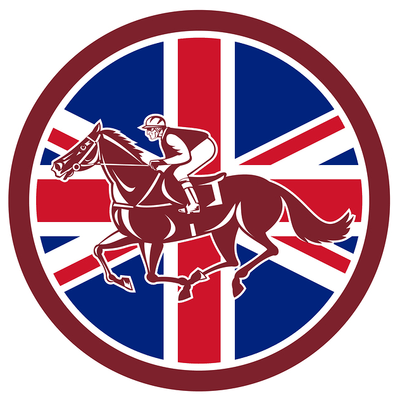 Image of Racehorse and UK Flag