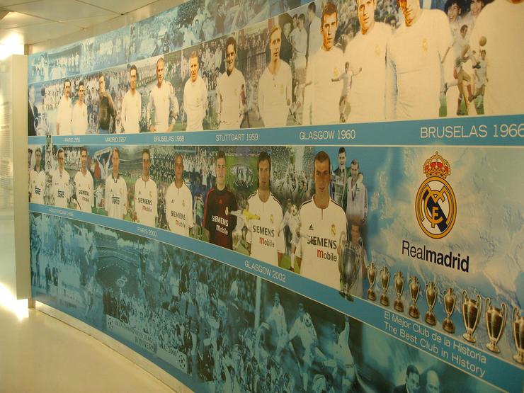 Real Madrid Museum European Cup Winners Mural