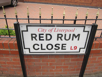 Red Rum Close Sign in Liverpool