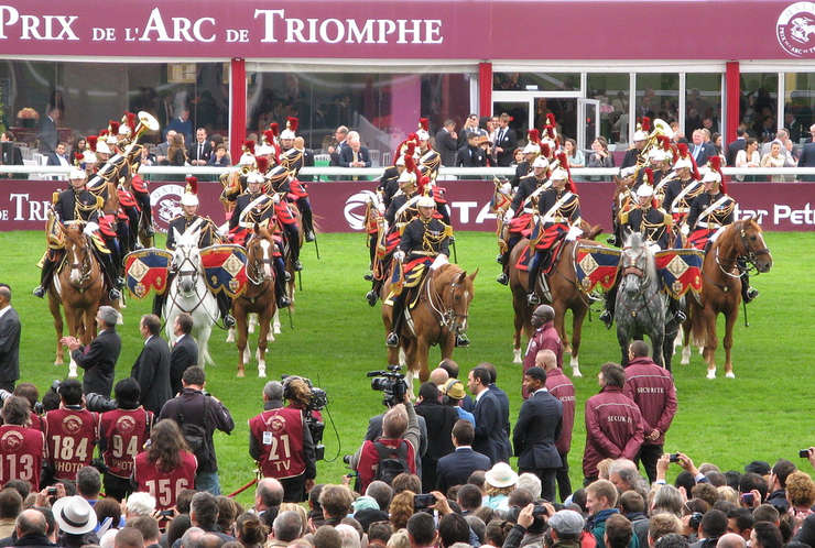 Republican Guard Display at the Arc Meeting at Longchamp