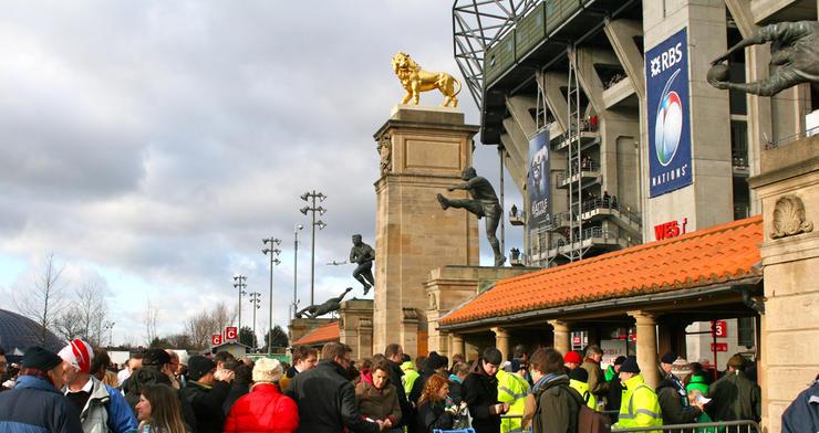 Rugby Fans at Twickenham