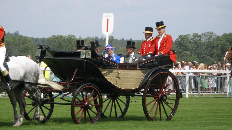 The Queen and Prince Philip in Royal Carriage