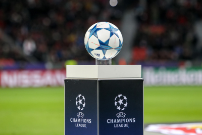 UEFA Champions League Ball and Plinth