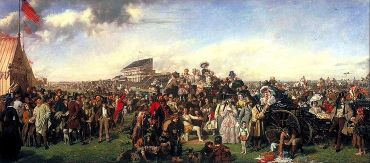 The Derby Day Painting by William Powell Frith