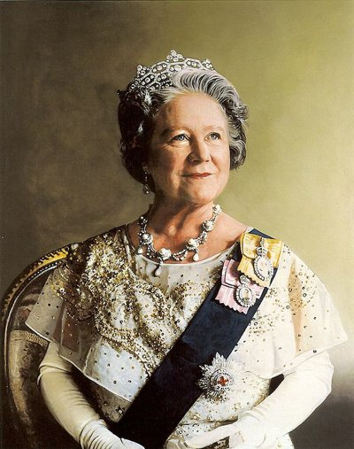 Portrait of Queen Elizabeth the Queen Mother