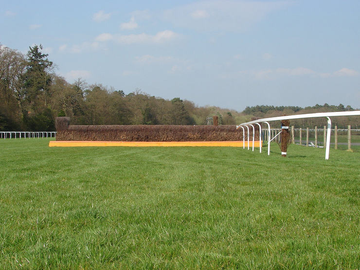 National Hunt Fence at Ascot Racecourse