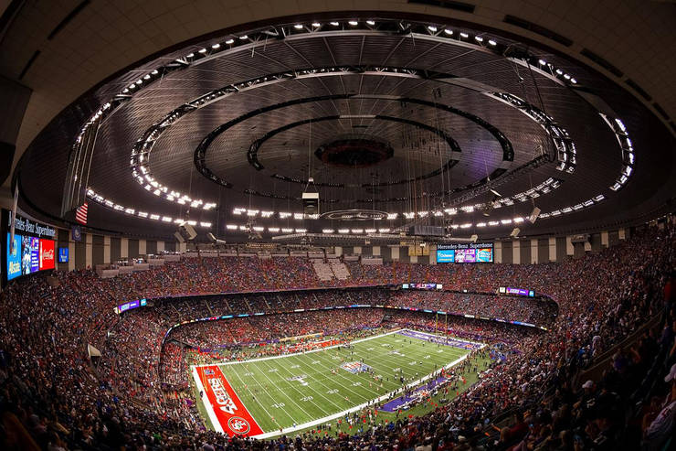 Louisiana Superdome During NFL Game