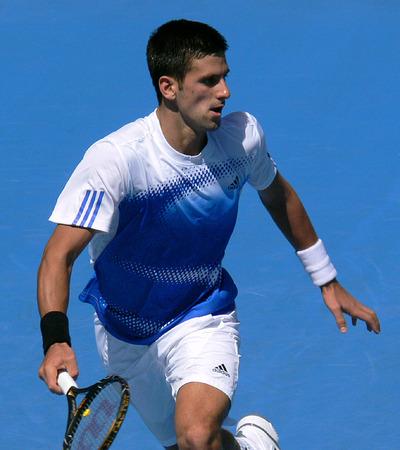 Novak Djokovic Playing at the Australian Open
