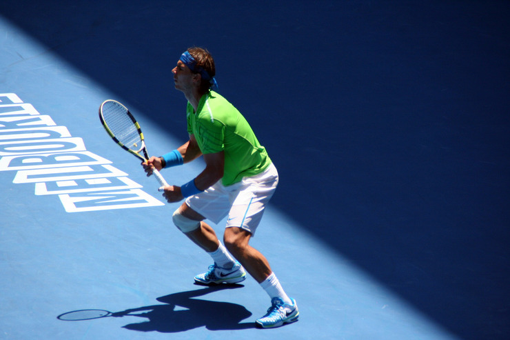 Rafael Nadal Playing at the Australian Open