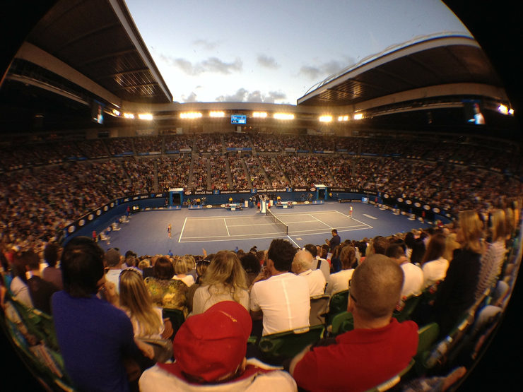 Rod Laver Arena in Melbourne during Tennis Match