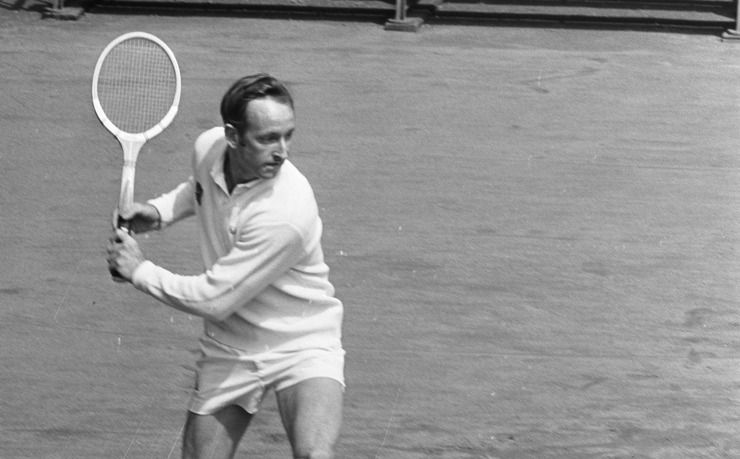 Rod Laver Playing Tennis