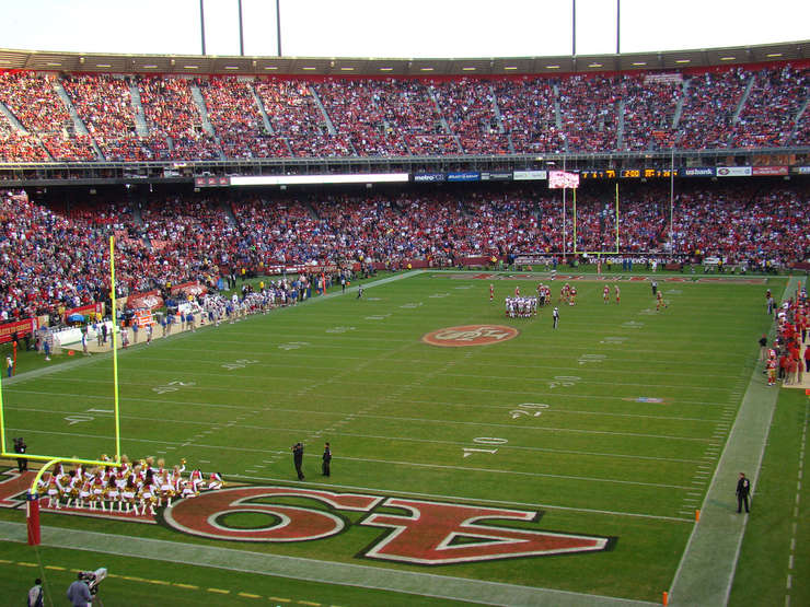 San Francisco 49ers' Candlestick Park During Game