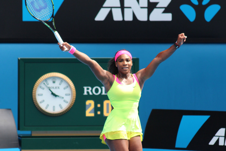 Serena Williams Celebrating Victory at the Australian Open