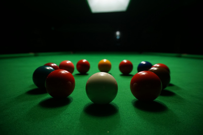 Snooker Ball Circle on Snooker Table