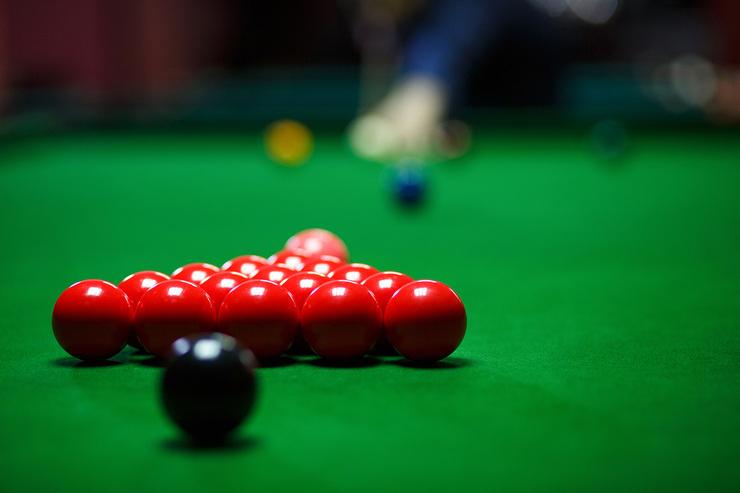 Snooker Player Breaking