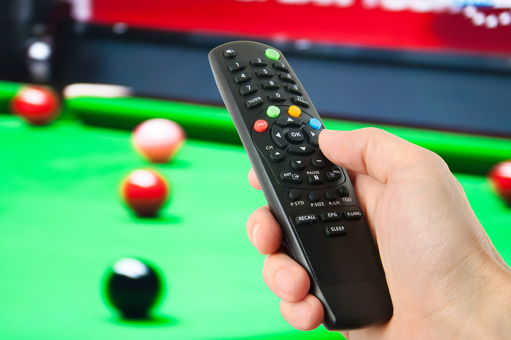Snooker on Television with Remote Control