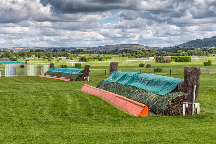 Fences at Cheltenham Racecourse