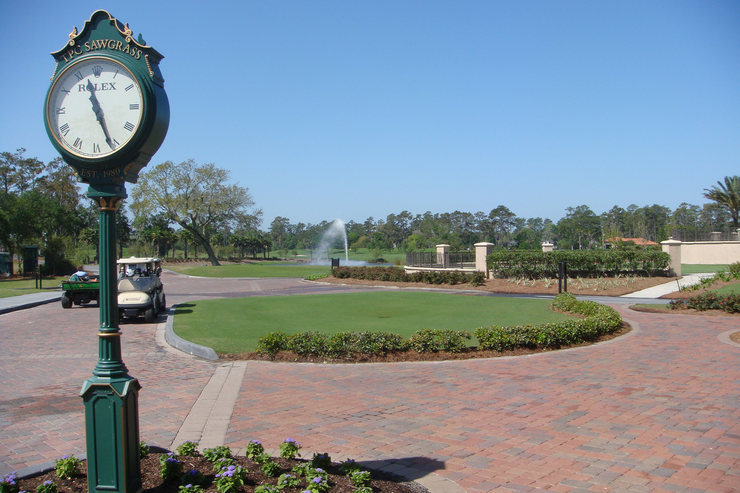 Clock at TPC Sawgrass