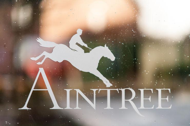 Logo on Door at Aintree Racecourse