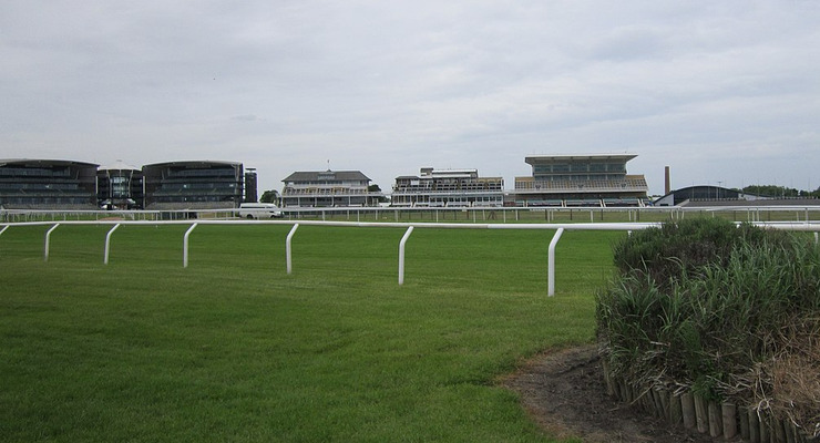Aintree Racecourse Viewed from the Melling Road